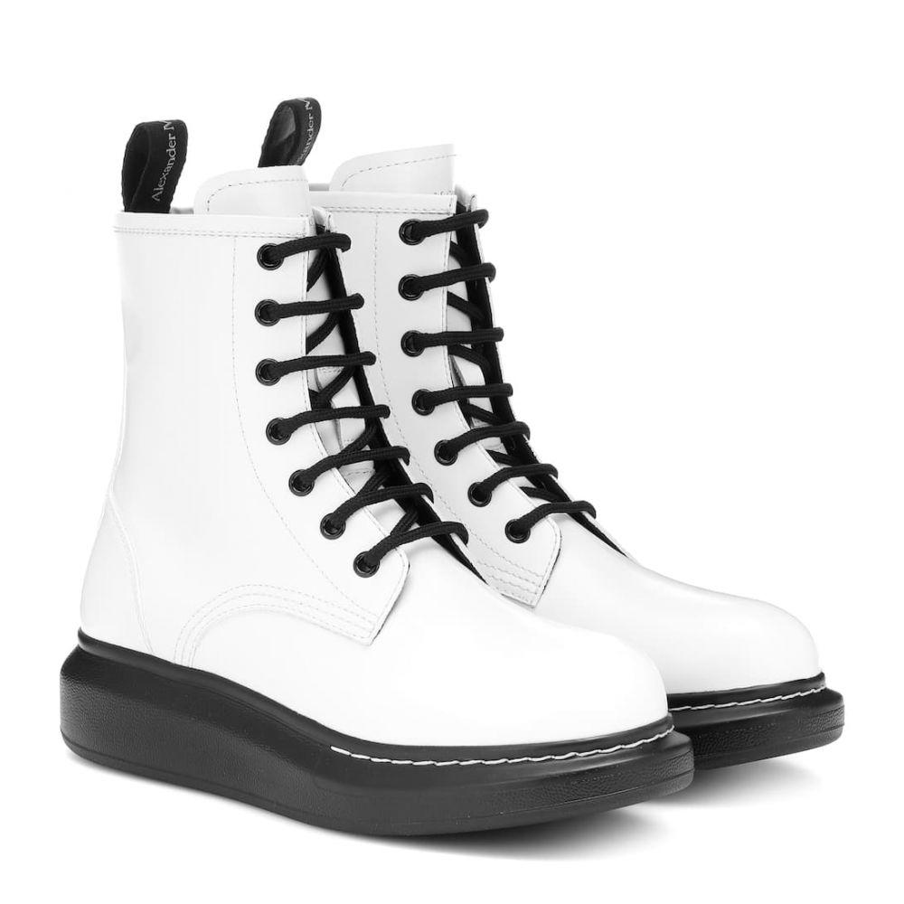 アレキサンダー マックイーン Alexander McQueen レディース シューズ・靴 ブーツ【Leather ankle boots】White/Black