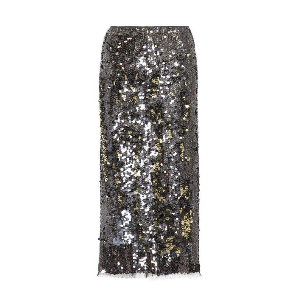 レジーナ ピヨ Rejina Pyo レディース スカート ひざ丈スカート【Sequinned midi skirt】black