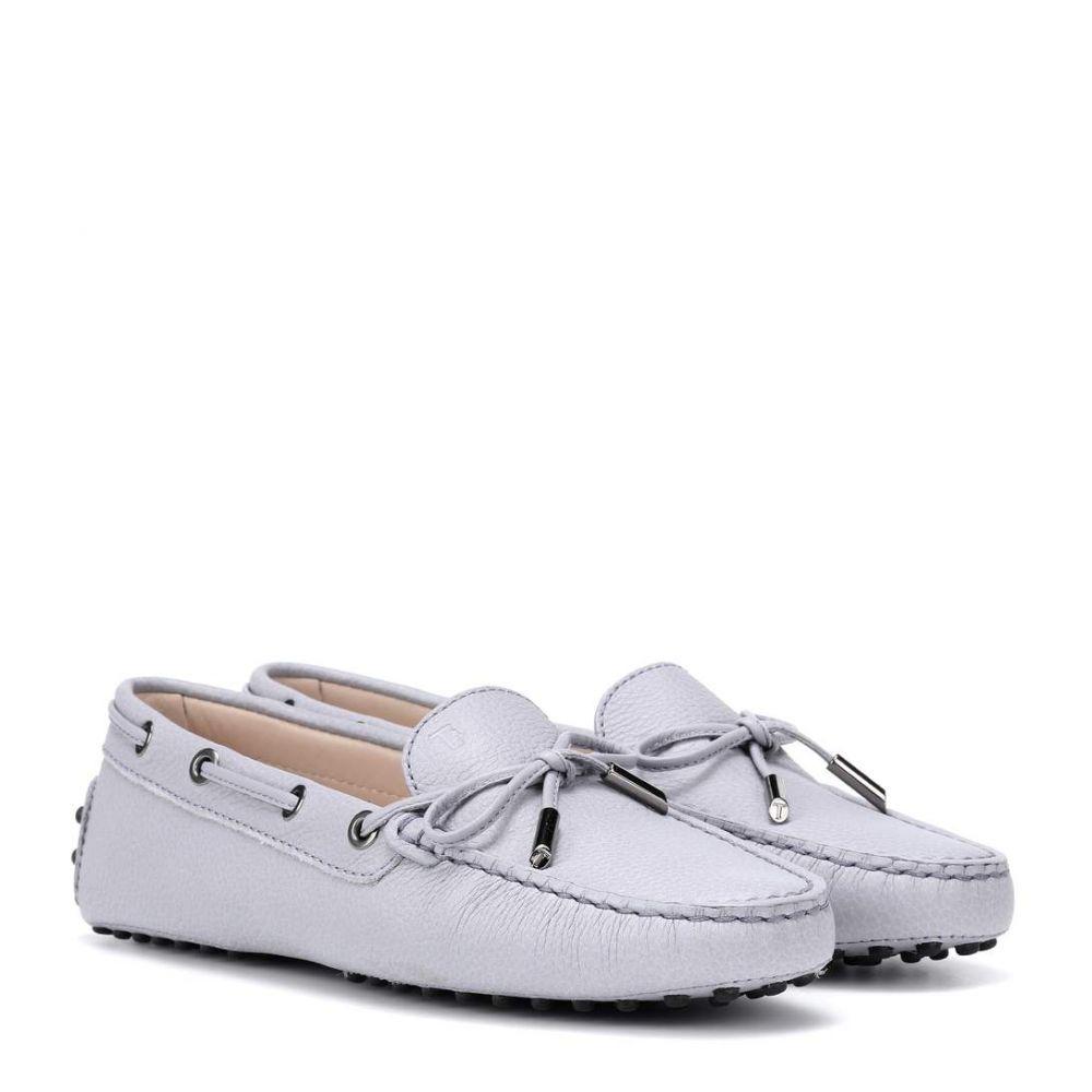 トッズ Tod's レディース シューズ・靴 ローファー・オックスフォード【Gommino leather loafers】Lilac Grey