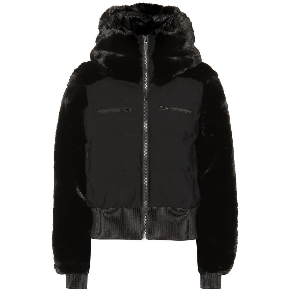 フザルプ Fusalp レディース スキー・スノーボード アウター【Chesery faux-fur short ski jacket】noir