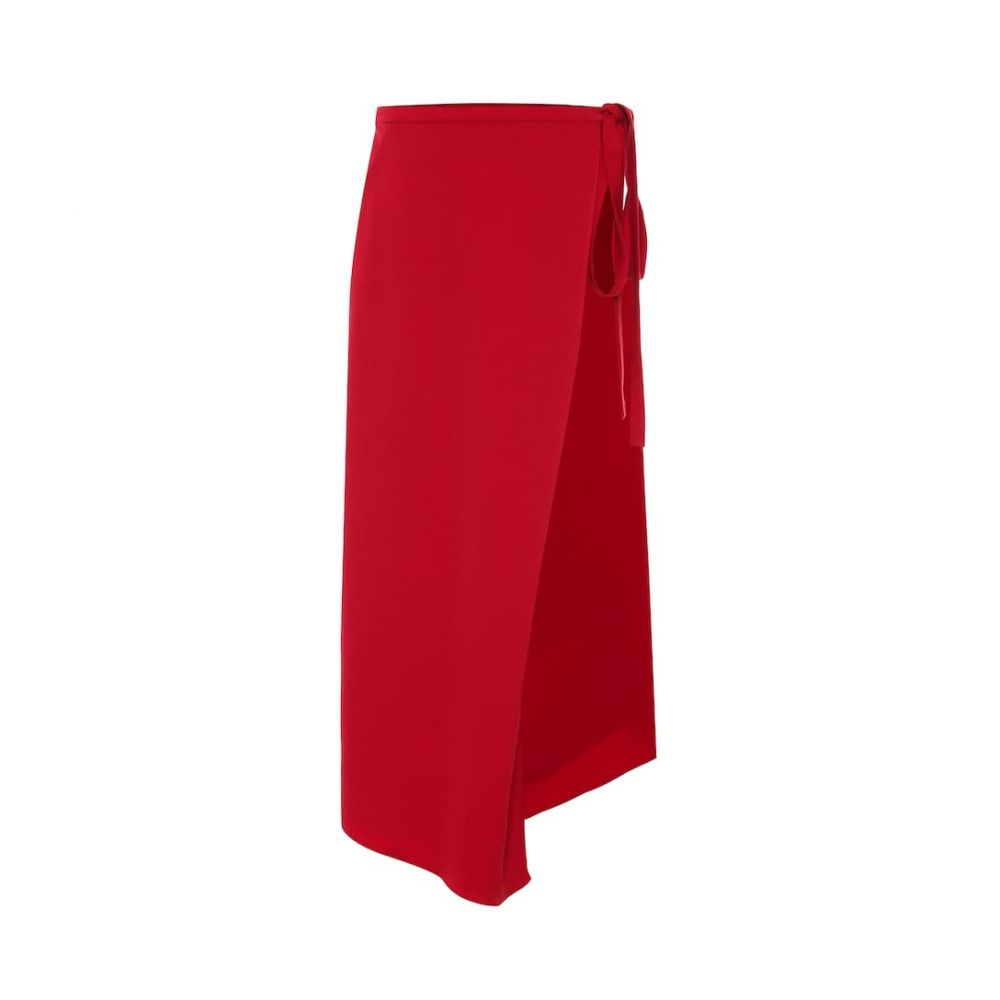 ワイプロジェクト Y/PROJECT レディース スカート ひざ丈スカート【Stretch-wool asymmetric midi skirt】red