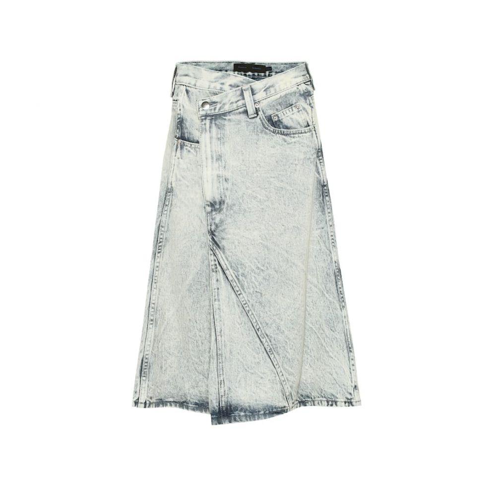 プロエンザ スクーラー Proenza Schouler レディース スカート ひざ丈スカート【Denim midi skirt】Light Acid