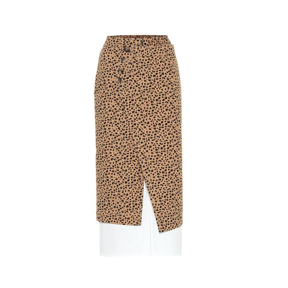 レジーナ ピヨ Rejina Pyo レディース スカート ひざ丈スカート【Steffi cotton twill skirt】Leopard + Cotton Off-white