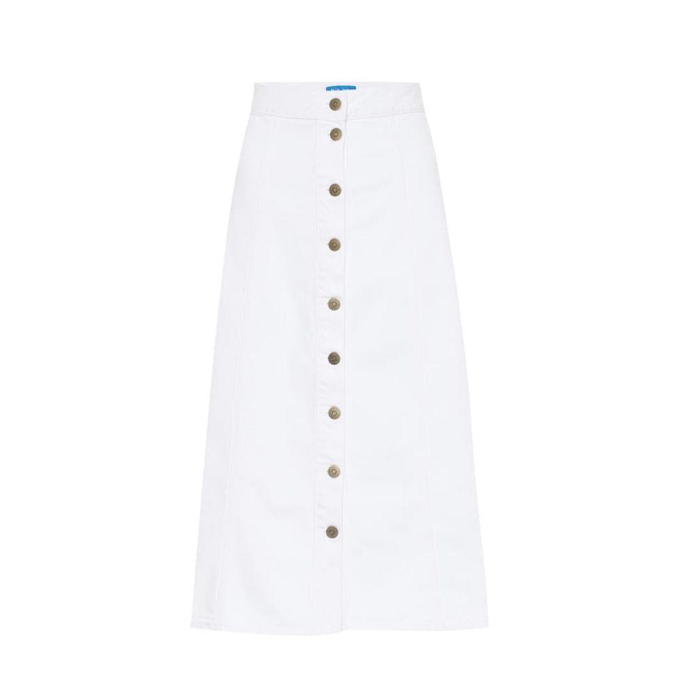 エムアイエイチ M.i.h Jeans レディース スカート ひざ丈スカート【Panton denim midi skirt】White