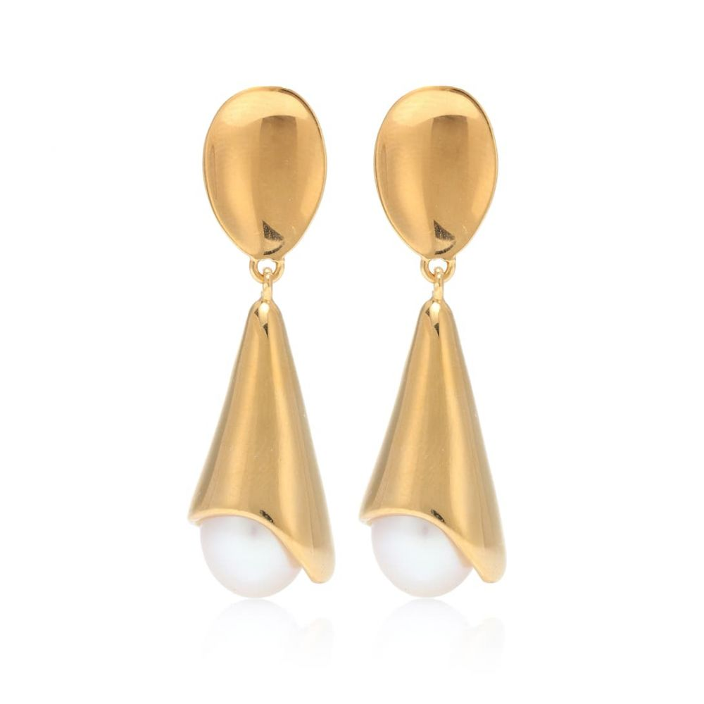 ソフィ ブハイ Sophie Buhai レディース ジュエリー・アクセサリー イヤリング・ピアス【Anna 18kt gold vermeil and freshwater pearl earrings】