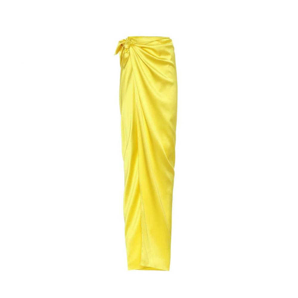 バレンシアガ Balenciaga レディース スカート ロング・マキシ丈スカート【Satin maxi skirt】Yellow