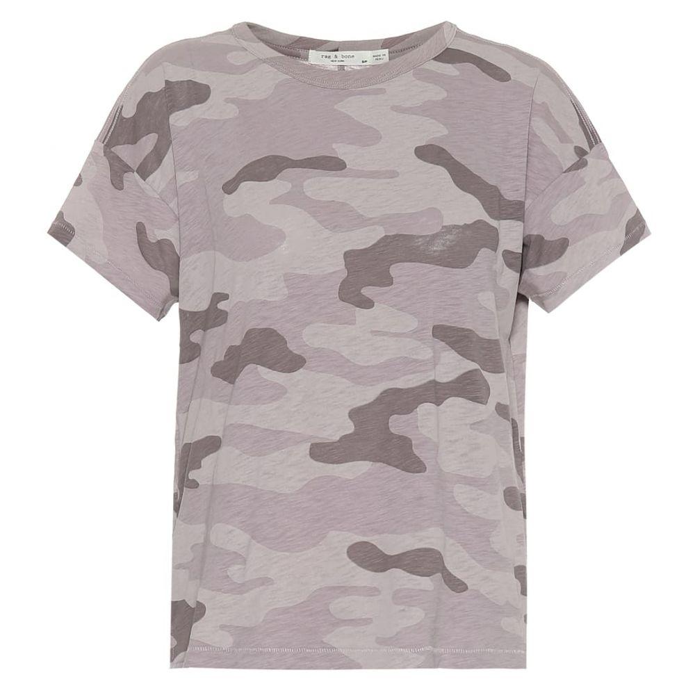 ラグ&ボーン Rag & Bone レディース トップス Tシャツ【Camo Vintage Crew cotton T-shirt】Grey