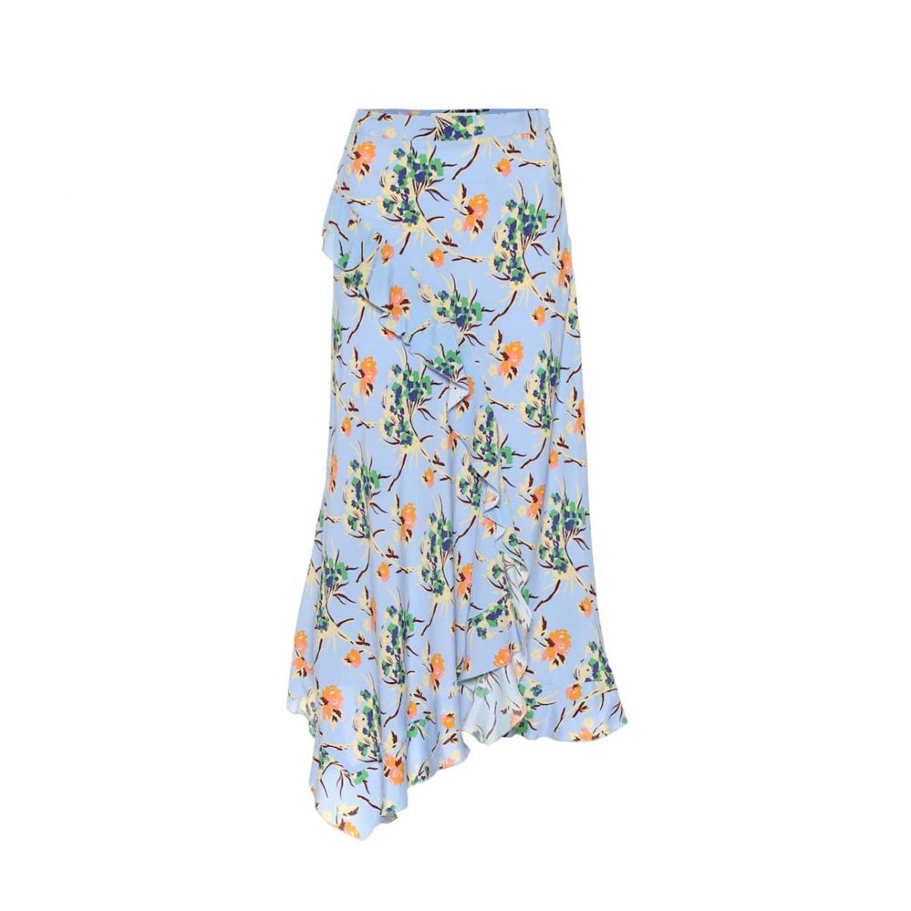 エトロ Etro レディース スカート ひざ丈スカート【Asymmetric floral crepe midi skirt】