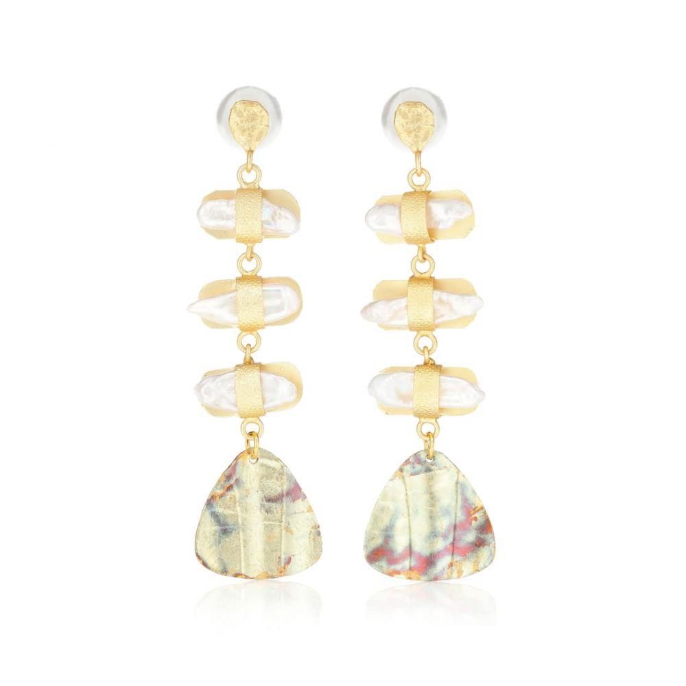 ピート ダラート Peet Dullaert レディース ジュエリー・アクセサリー イヤリング・ピアス【Aroda 14k gold-plated earrings with pearls】