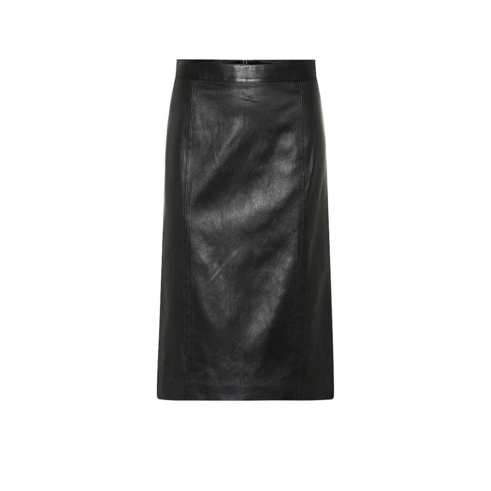ジョゼフ Joseph レディース スカート ひざ丈スカート【Elle stretch leather pencil skirt】Black