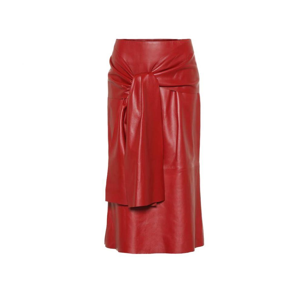 ジョゼフ Joseph レディース スカート ひざ丈スカート【Renne leather midi skirt】Ruby