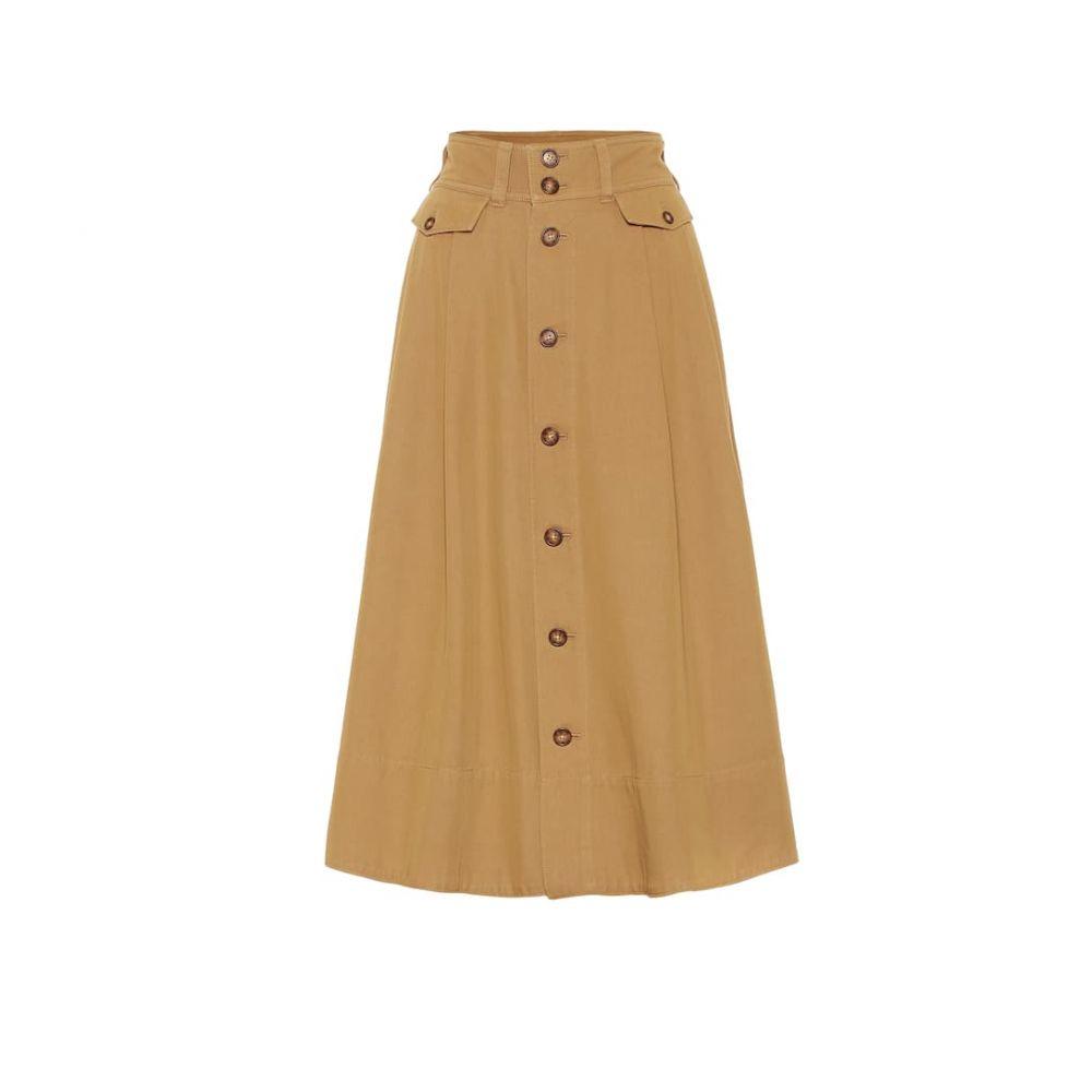 ラルフ ローレン Polo Ralph Lauren レディース スカート ひざ丈スカート【Cotton-blend twill midi skirt】Montana Khaki