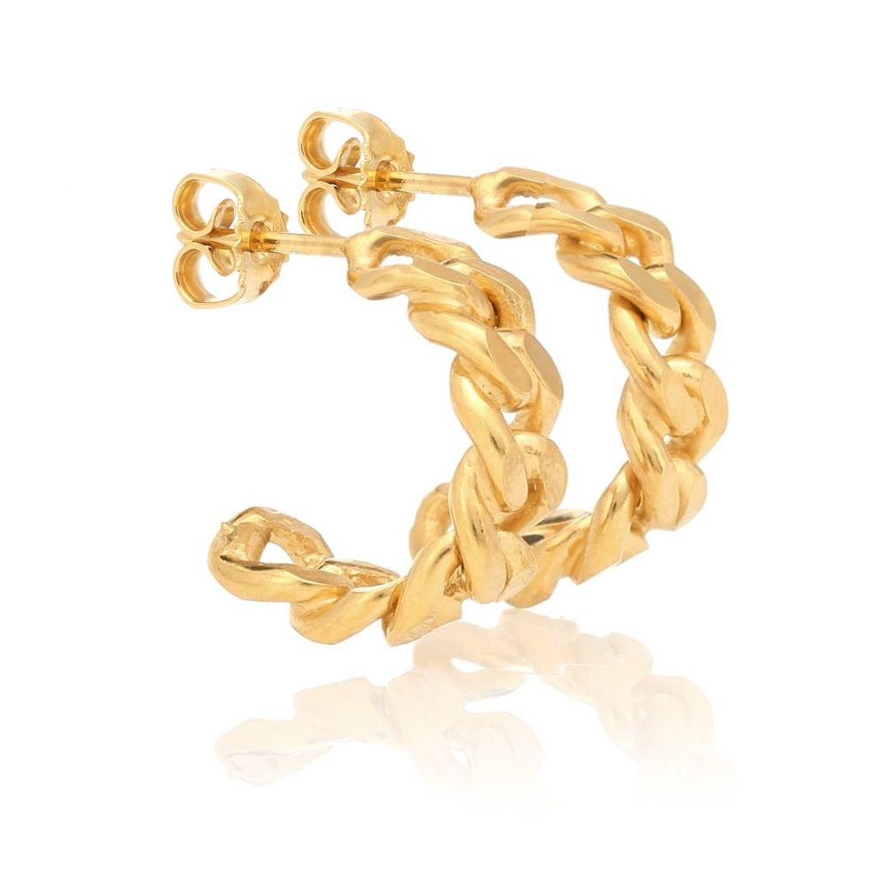 エルハナティ Elhanati レディース ジュエリー・アクセサリー イヤリング・ピアス【Rita Hoop Petite 24-kt gold-plated earrings】