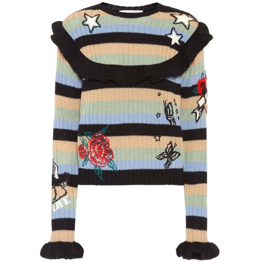 ヴァレンティノ Valentino レディース トップス ニット・セーター【Embroidered wool sweater】Nero, Camel Rose, Grey Sky, Lovat