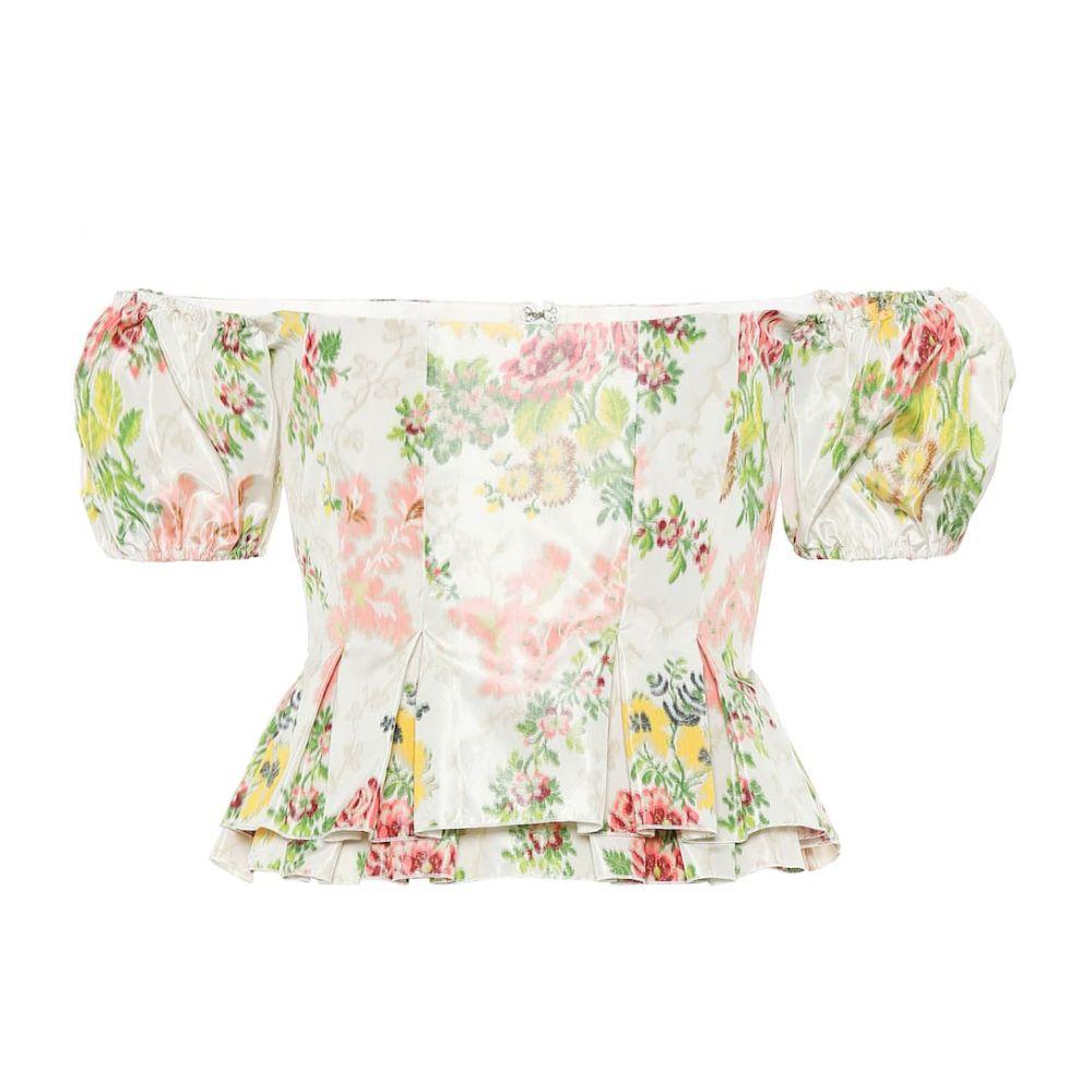 ブロック コレクション Brock Collection レディース トップス【Oarsman floral silk-blend top】Dark Beige