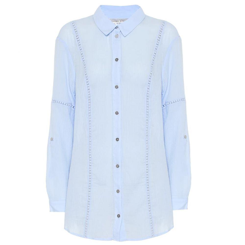 ハイジ クライン Heidi Klein レディース トップス ブラウス・シャツ【Azores cotton shirt】Light Blue