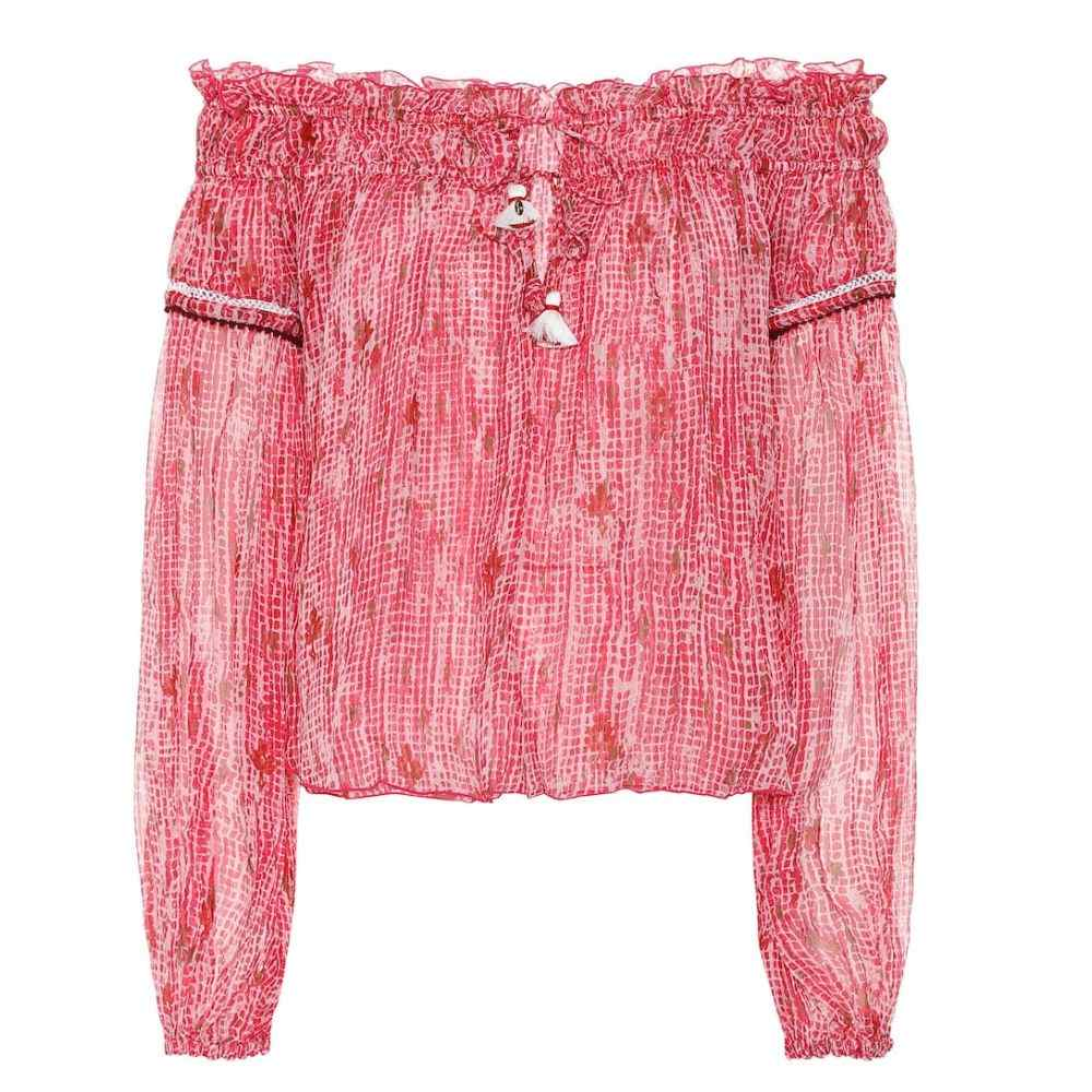 プーペット セント バース Poupette St Barth レディース トップス ブラウス・シャツ【Clara printed chiffon shirt】Pink Fanciful
