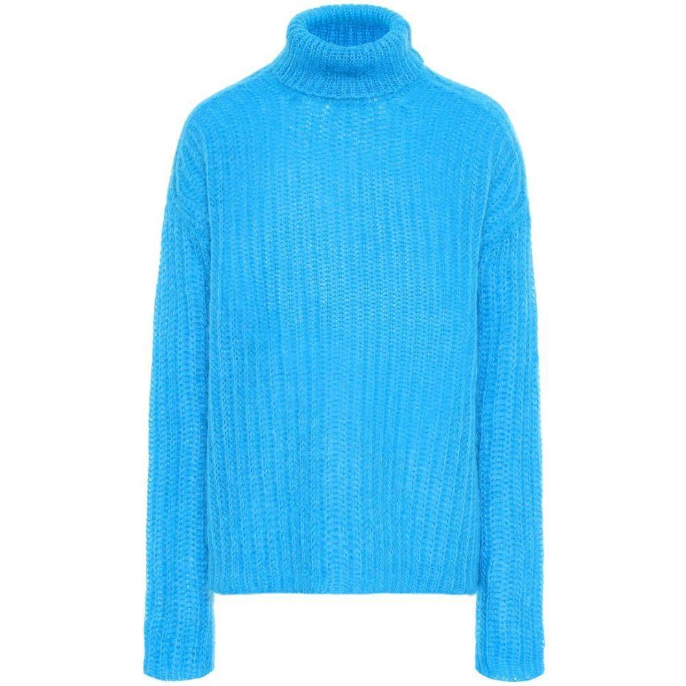 マルニ Marni レディース トップス ニット・セーター【Mohair-blend turtleneck sweater】Cobalt