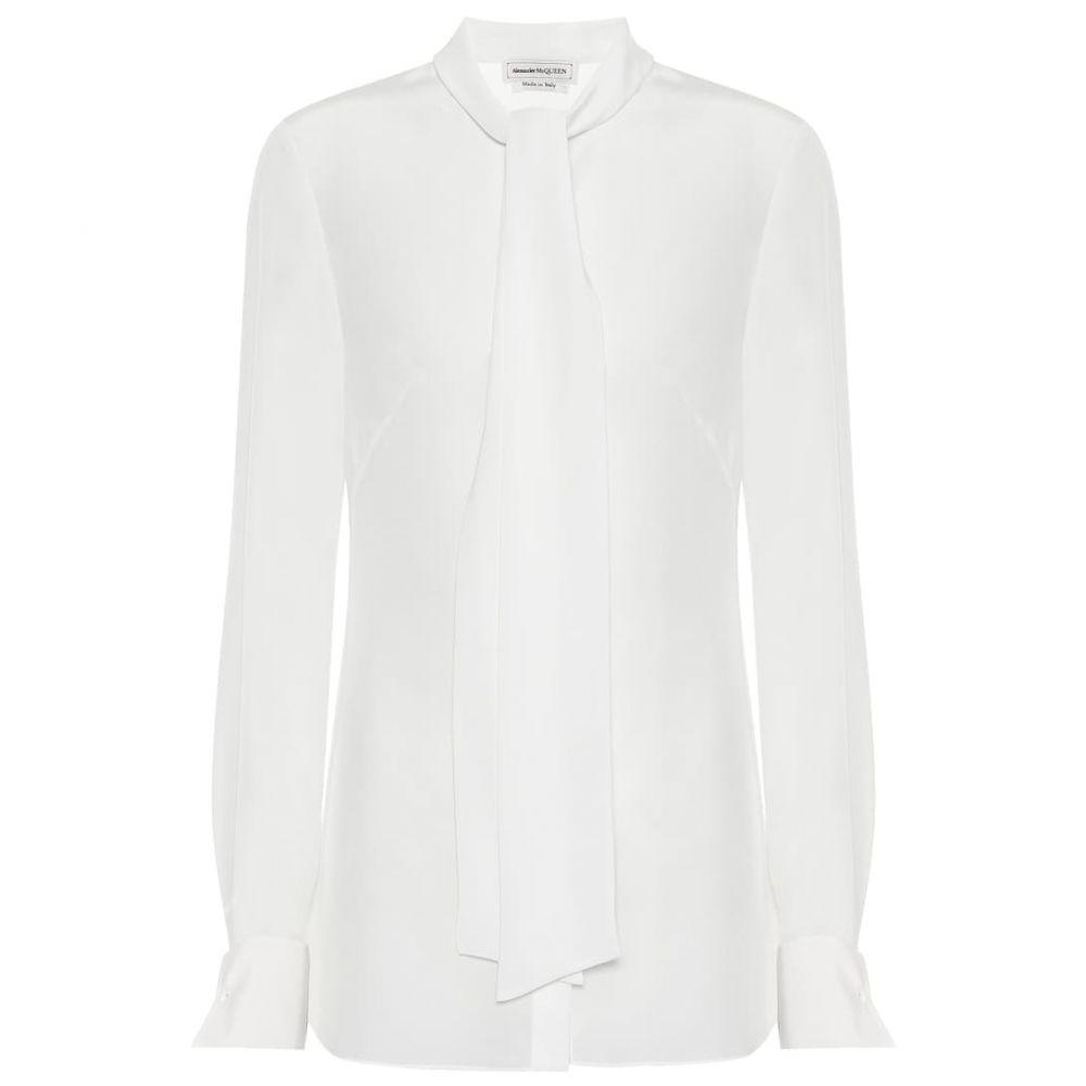 アレキサンダー マックイーン Alexander McQueen レディース トップス ブラウス・シャツ【Silk blouse】light ivory