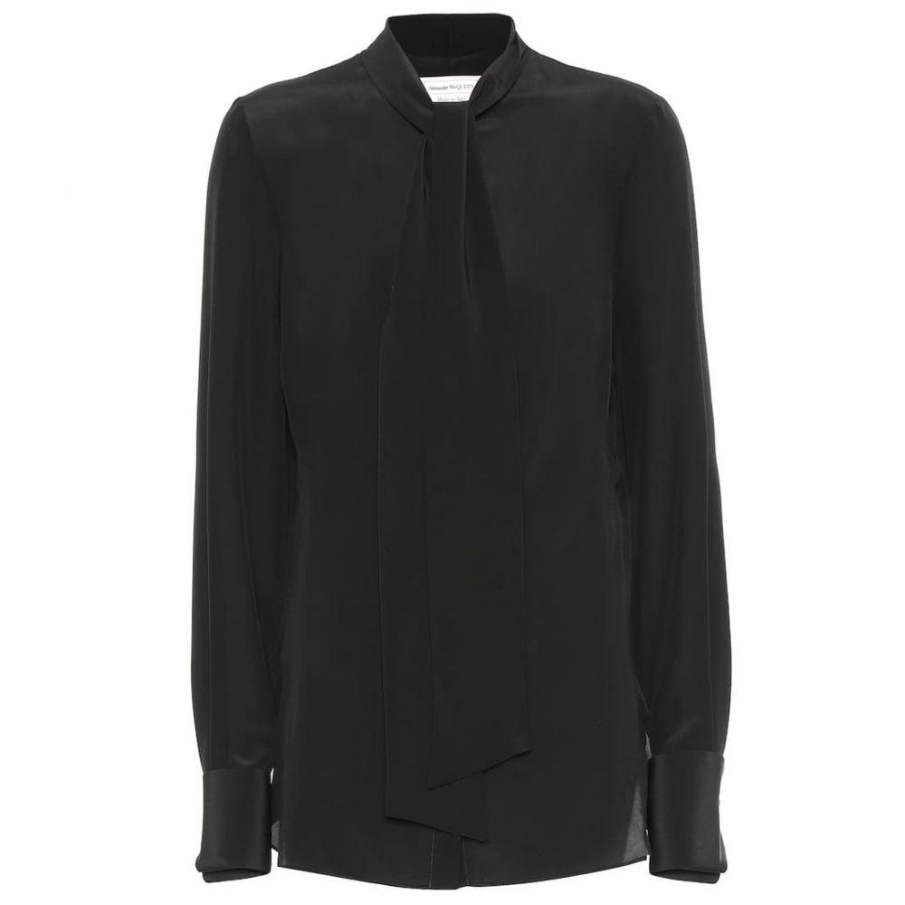 アレキサンダー マックイーン Alexander McQueen レディース トップス ブラウス・シャツ【Silk blouse】Black