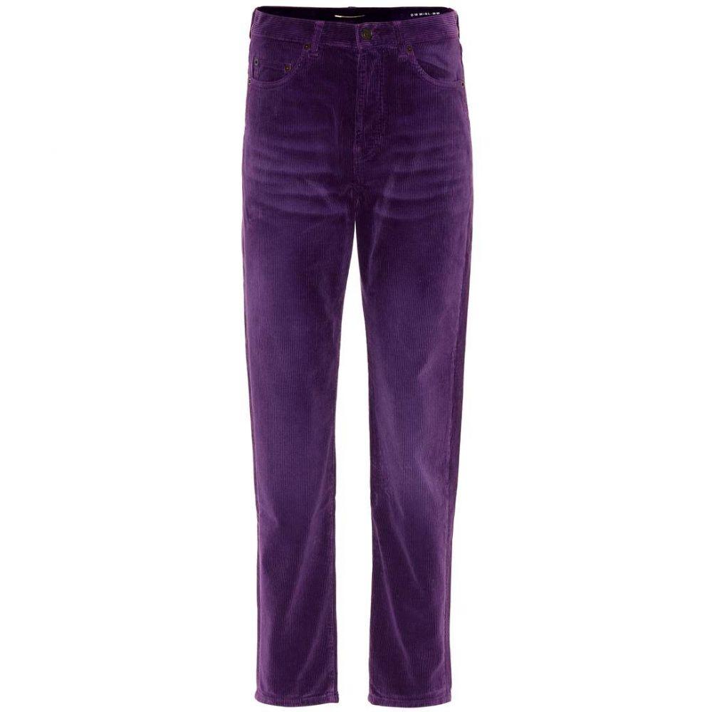 イヴ サンローラン Saint Laurent レディース ボトムス・パンツ スキニー・スリム【Slim corduroy pants】Fuchsia