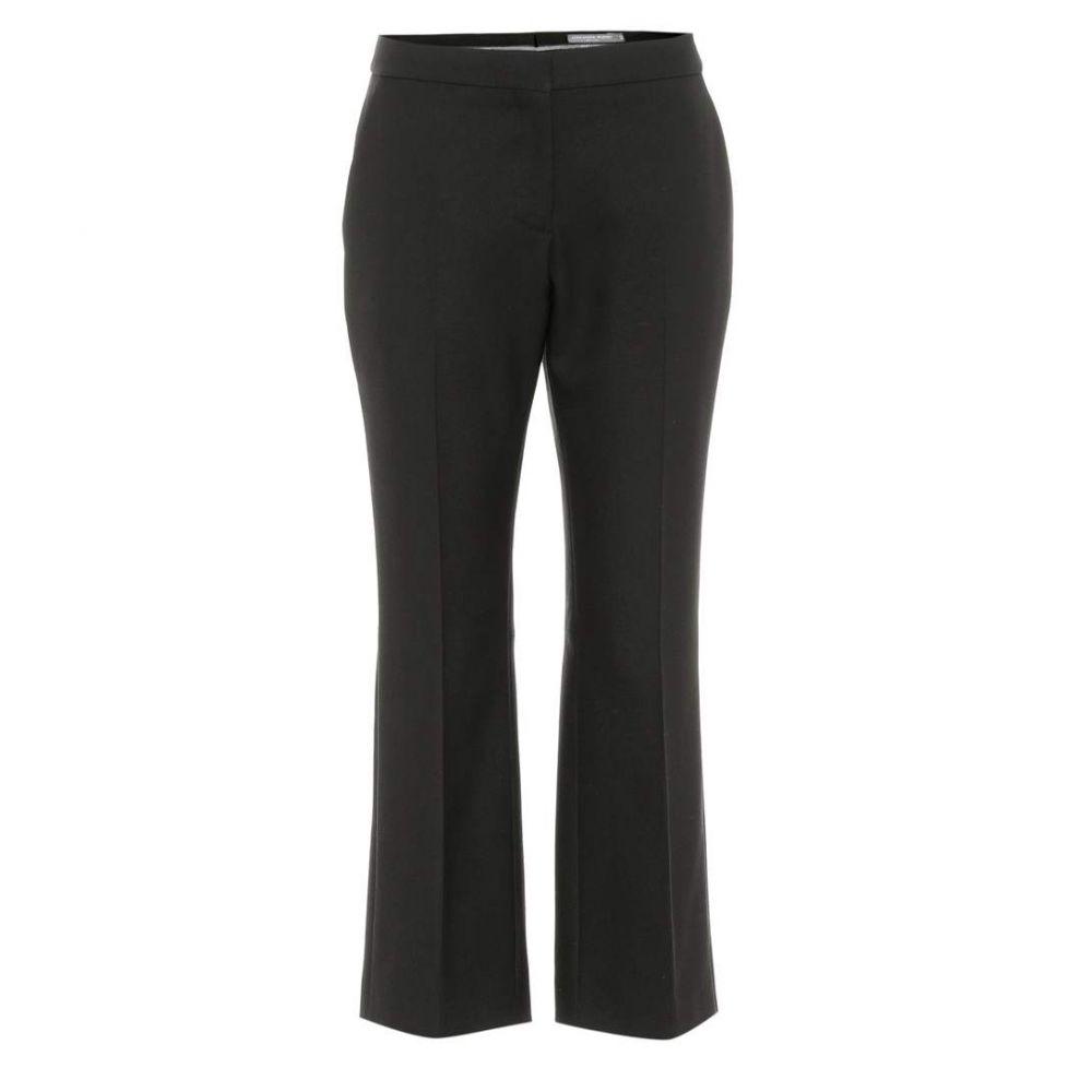 アレキサンダー マックイーン Alexander McQueen レディース ボトムス・パンツ クロップド【Wool and silk-blend pants】Black