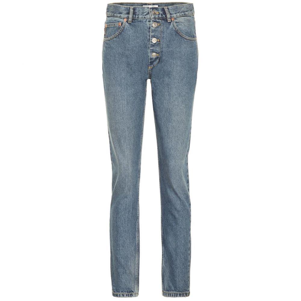バレンシアガ Balenciaga レディース ボトムス・パンツ ジーンズ・デニム【High-rise straight jeans】Dble Stonwsh Indigo