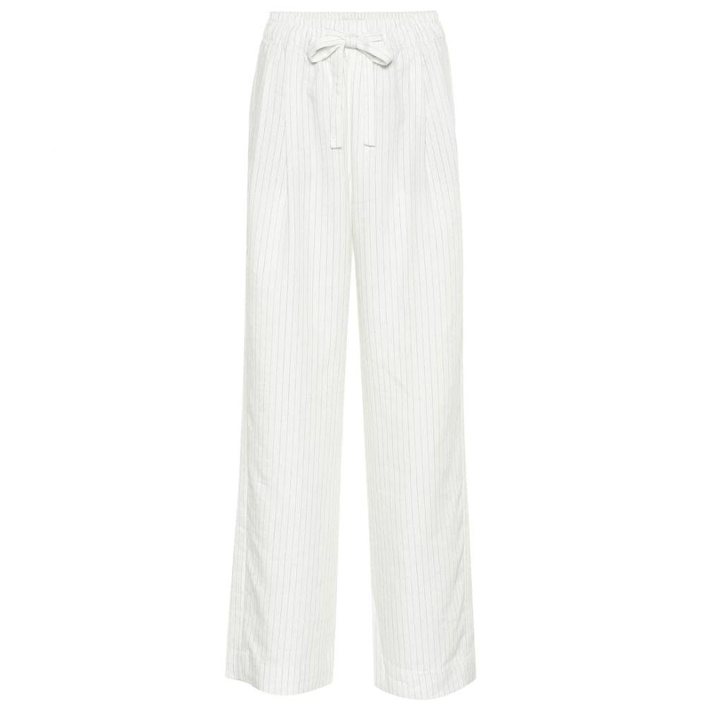 ヴィンス Vince レディース ボトムス・パンツ【Striped linen-blend pants】Creme