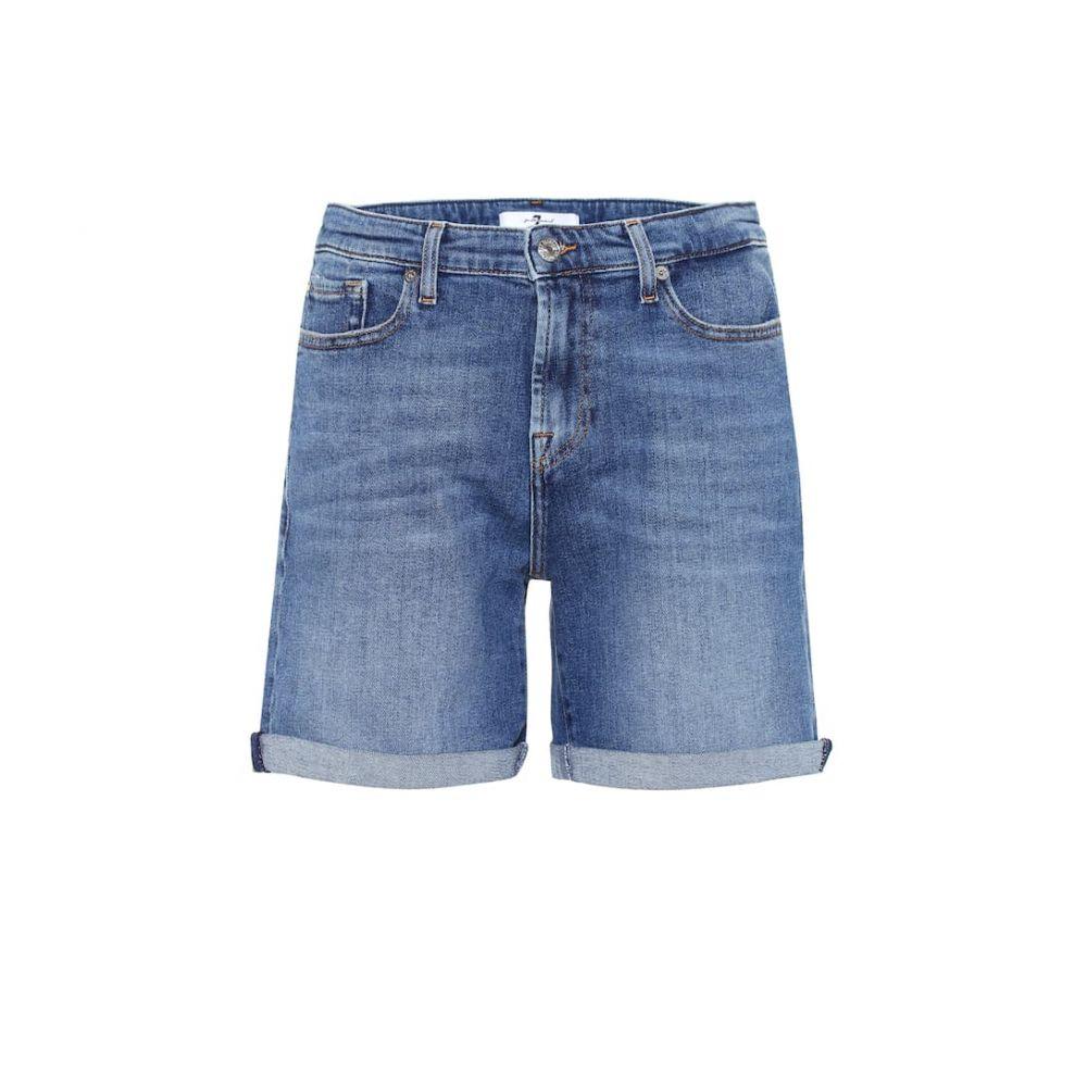 セブン フォー オール マンカインド 7 For All Mankind レディース ボトムス・パンツ ショートパンツ【Boy high-rise denim shorts】mid blue