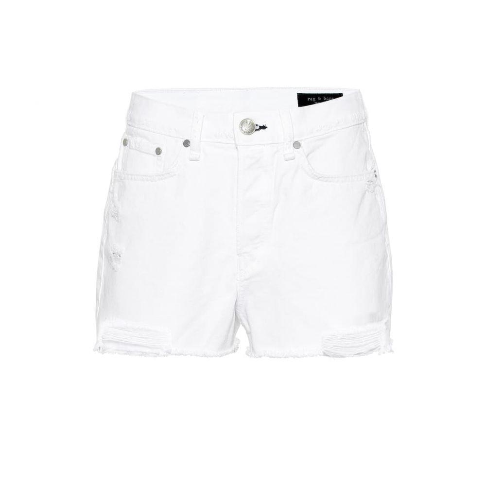 ラグ&ボーン Rag & Bone レディース ボトムス・パンツ ショートパンツ【Maya high-rise denim shorts】White tabby