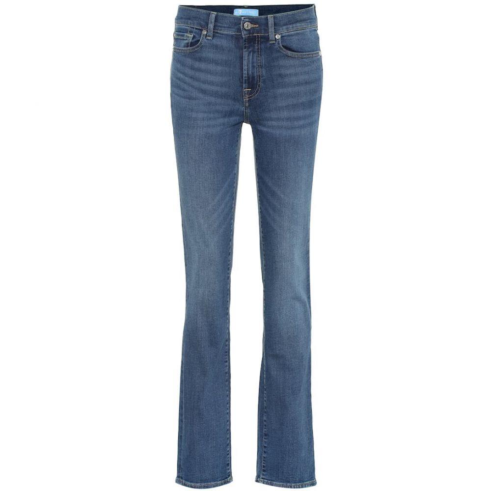 セブン フォー オール マンカインド 7 For All Mankind レディース ボトムス・パンツ ジーンズ・デニム【B(AIR) high-rise straight jeans】mid blue