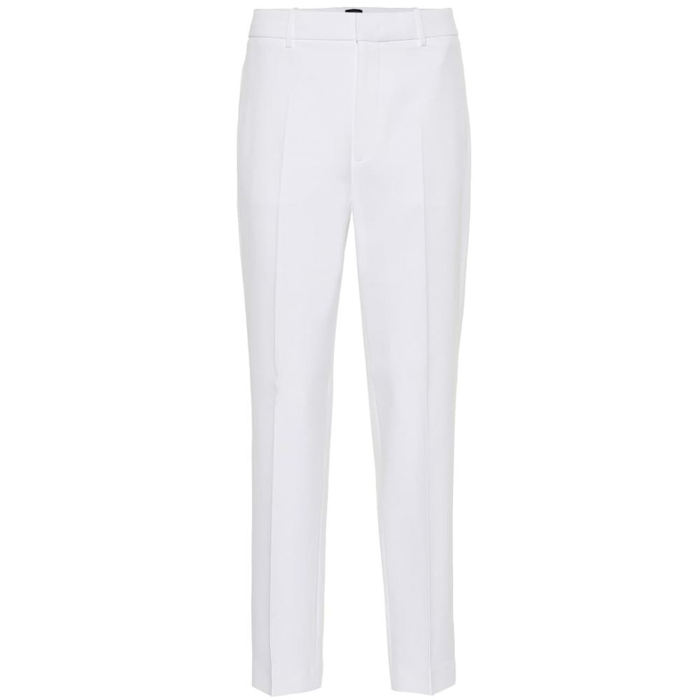 ジョゼフ Joseph レディース ボトムス・パンツ クロップド【Coman straight crepe pants】White