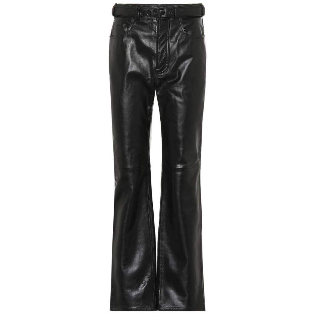 アクネ ストゥディオズ Acne Studios レディース ボトムス・パンツ【High-rise straight leather pants】black