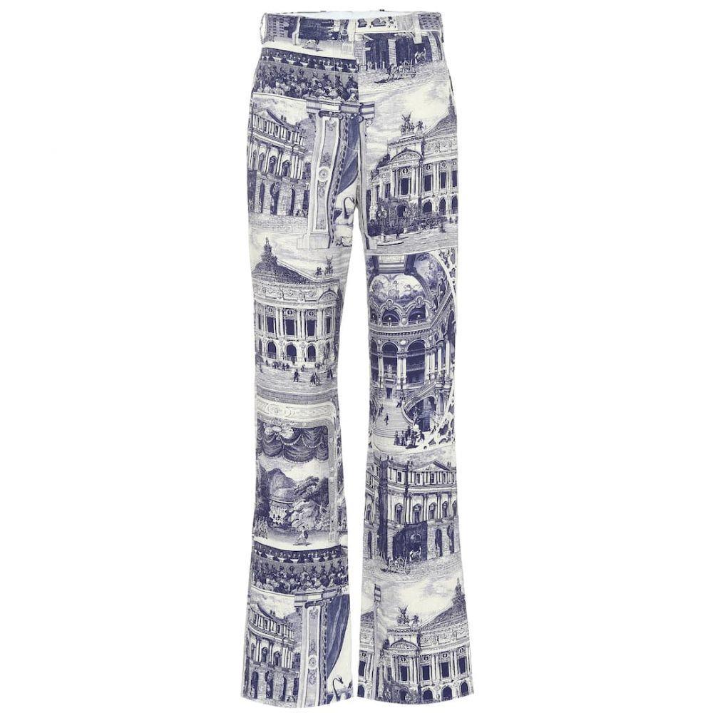 アクネ ストゥディオズ Acne Studios レディース ボトムス・パンツ【Printed linen-blend pants】Blue Taupe