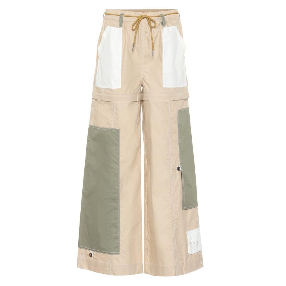 ガニー Ganni レディース ボトムス・パンツ【Wide-leg cotton pants】irish cream