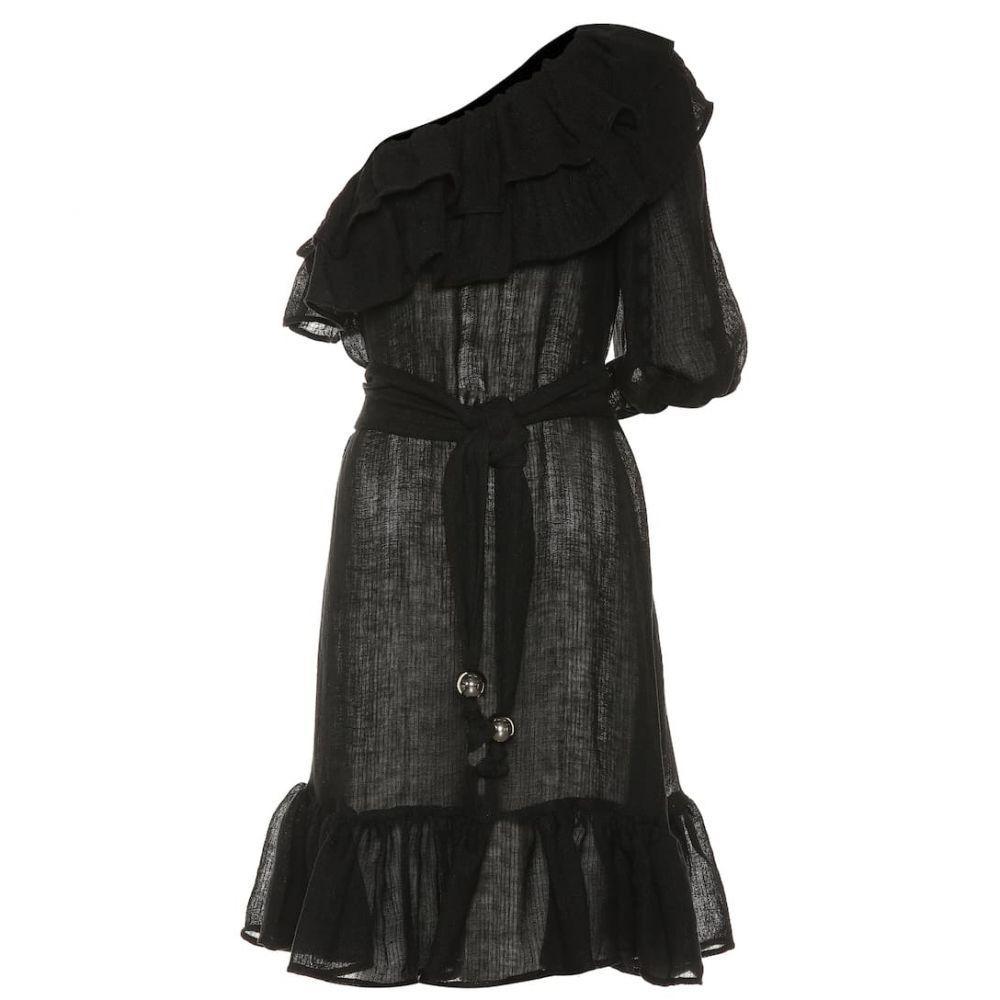 リサ マリー フェルナンデス Lisa Marie Fernandez レディース ワンピース・ドレス ワンピース【Arden one-shoulder linen-blend dress】black