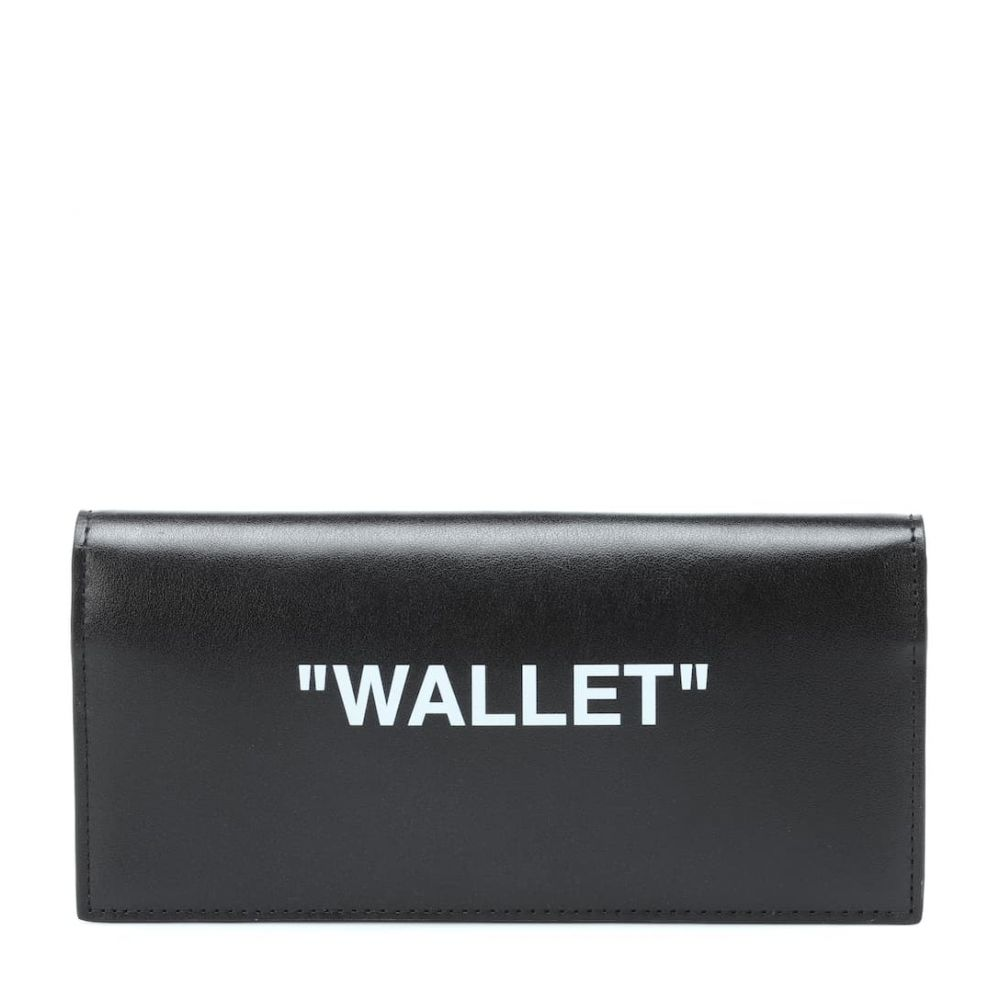 オフ-ホワイト Off-White レディース 財布【Quote leather wallet】Black Whit