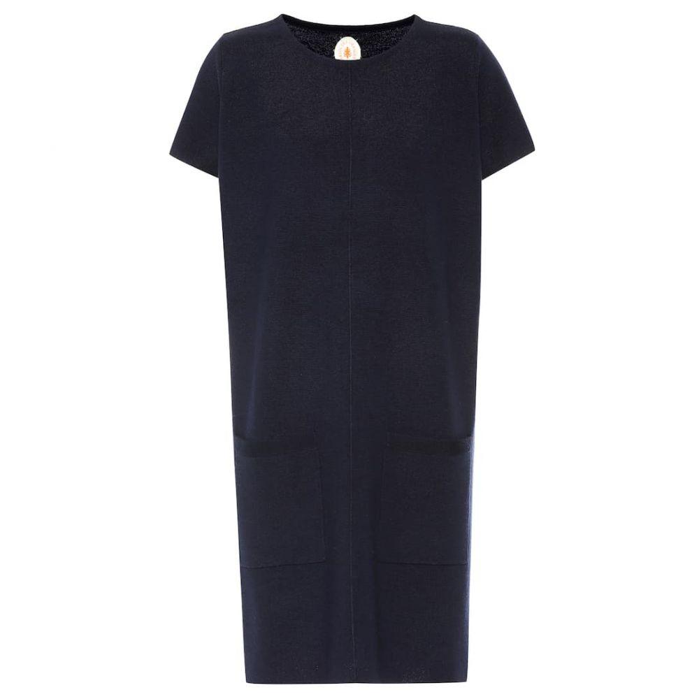 ジャルダンデオランゲール Jardin des Orangers レディース ワンピース・ドレス ワンピース【Wool midi dress】navy