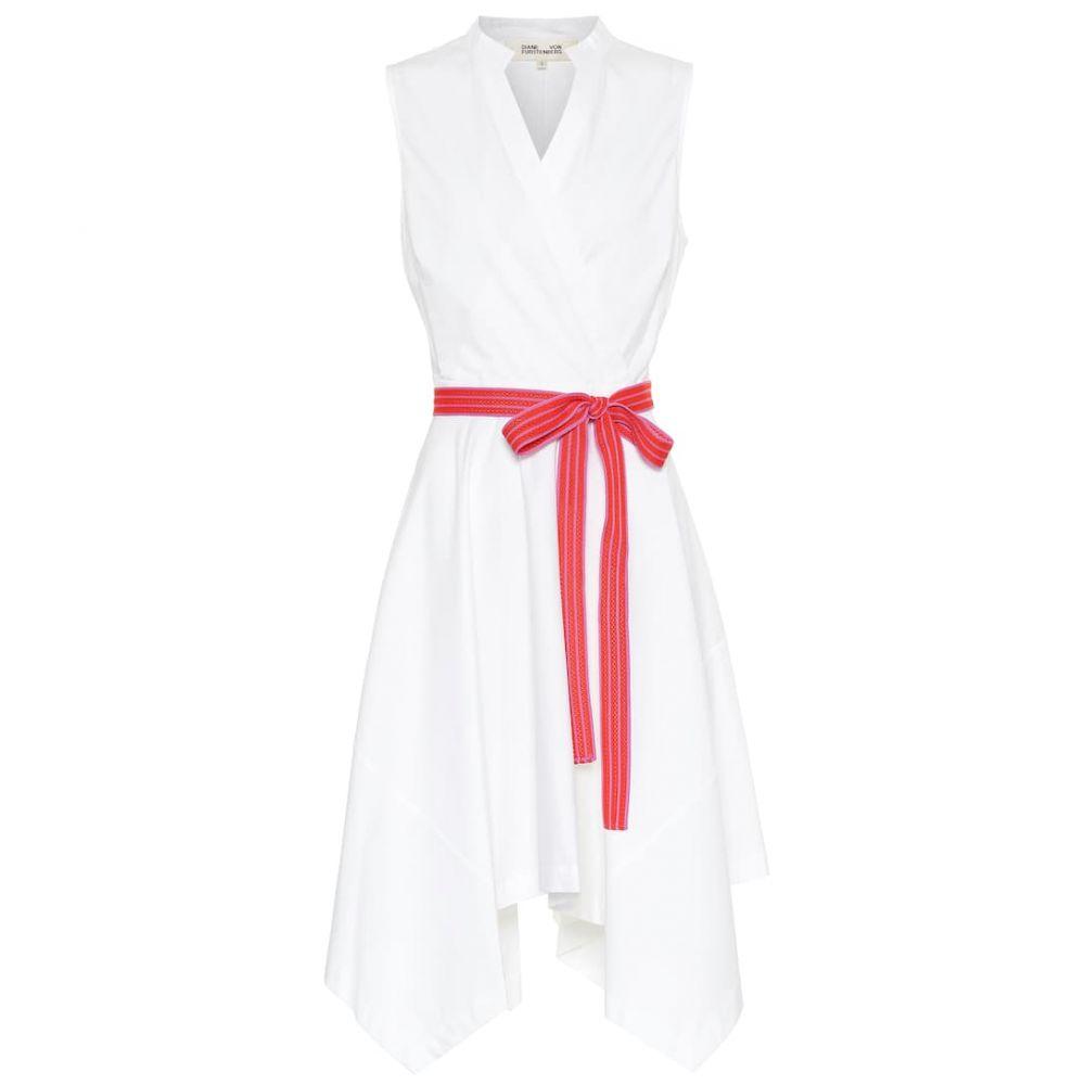 ダイアン フォン ファステンバーグ Diane von Furstenberg レディース ワンピース・ドレス ワンピース【Marlene cotton-poplin dress】White