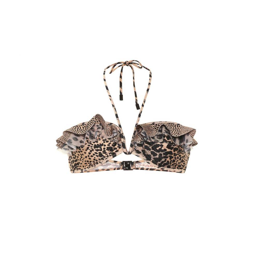 ジマーマン Zimmermann レディース 水着・ビーチウェア トップのみ【Allia leopard-print bikini top】Spliced