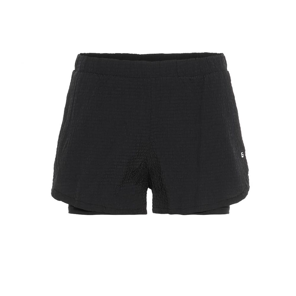 ランストン Lanston Sport レディース ボトムス・パンツ ショートパンツ【Santi Pocket seersucker shorts】Black
