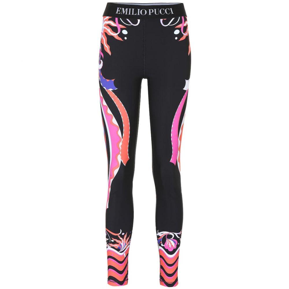 エミリオ プッチ Emilio Pucci Beach レディース インナー・下着 スパッツ・レギンス【Printed leggings】Corallo/Viola