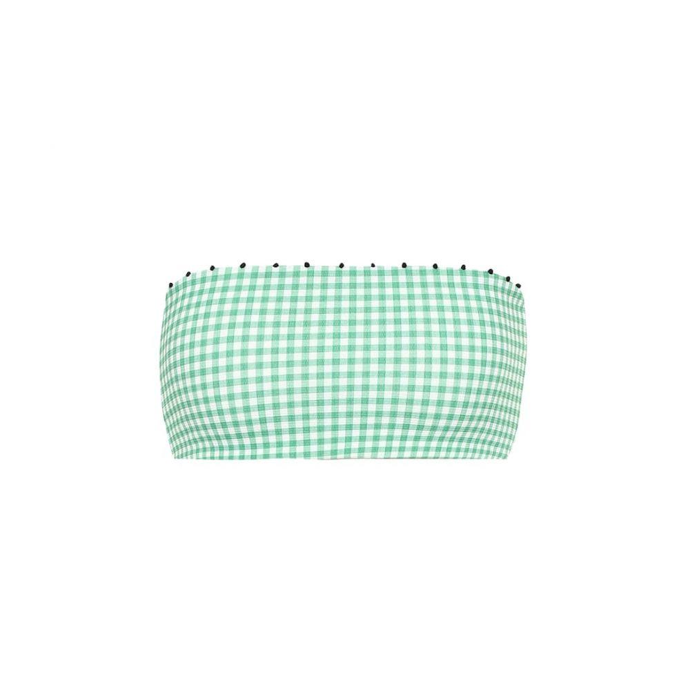 マリシアス Marysia レディース 水着・ビーチウェア トップのみ【Corsica bandeau bikini top】green ging