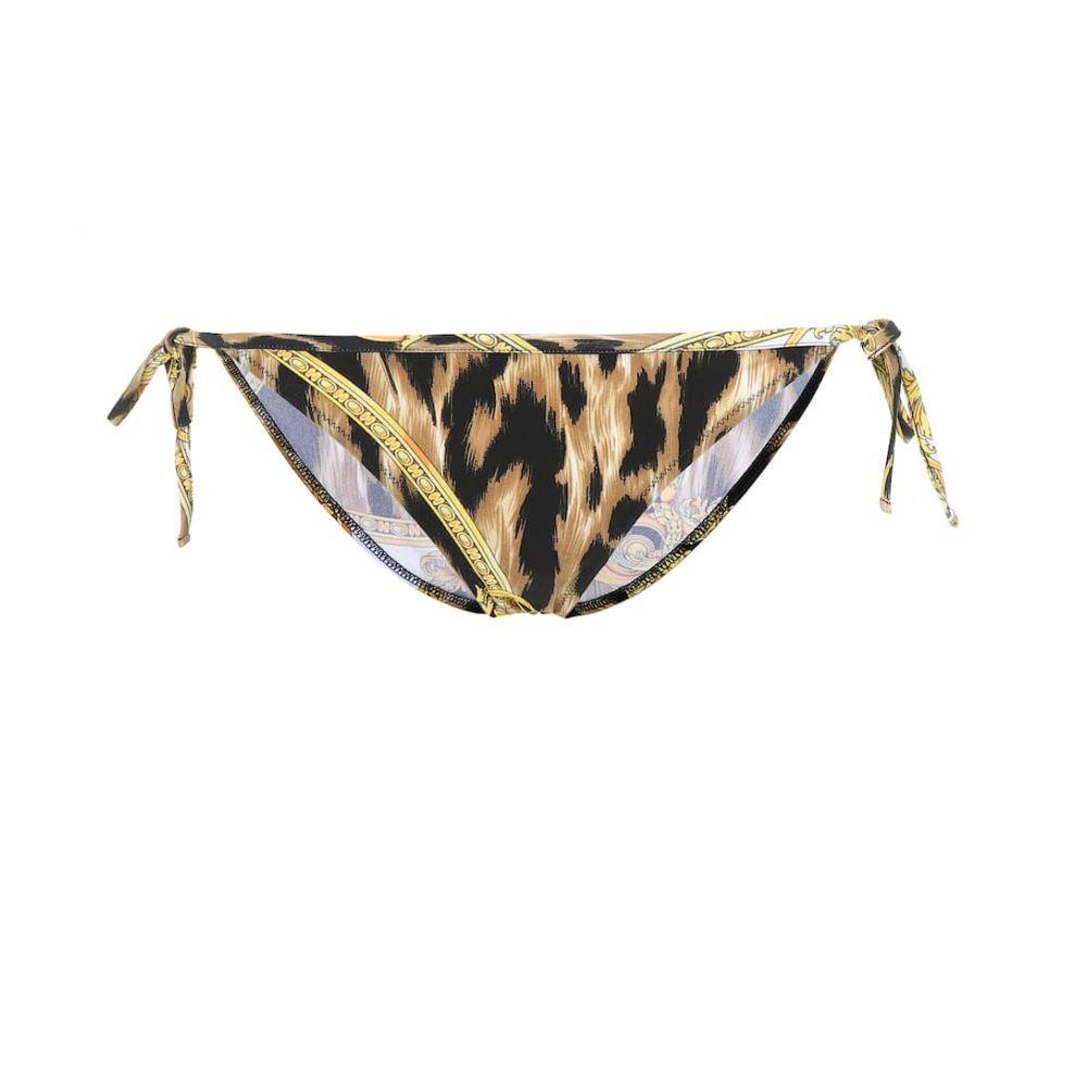 ヴェルサーチ Versace レディース 水着・ビーチウェア ボトムのみ【Printed bikini bottoms】Print Background White