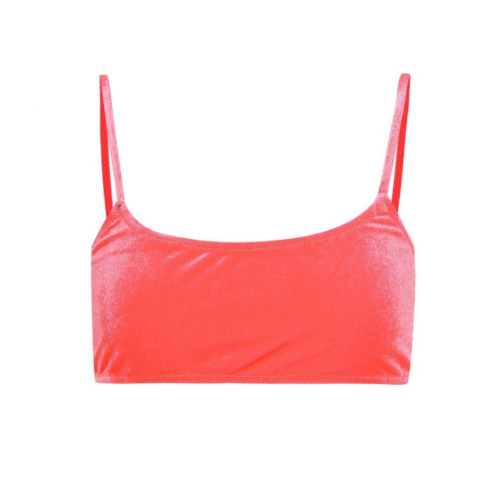 レイナ オルガ Reina Olga レディース 水着・ビーチウェア トップのみ【Stella velour bikini top】Hot Pink Velvet