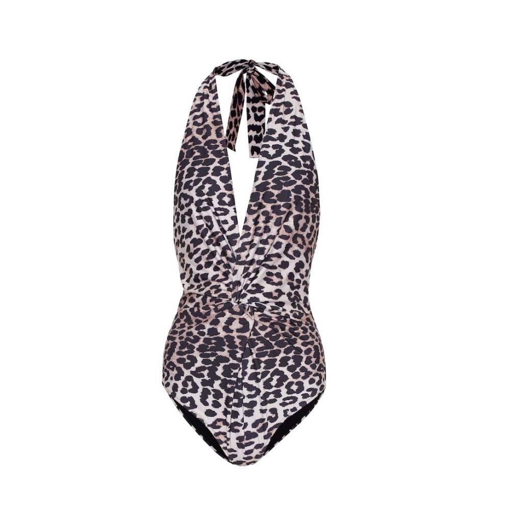 ガニー Ganni レディース 水着・ビーチウェア ワンピース【Halter swimsuit】Leopard