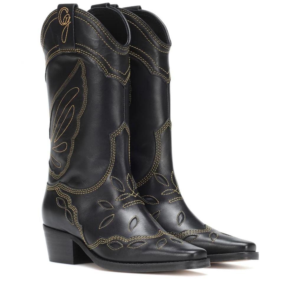 ガニー Ganni レディース シューズ・靴 ブーツ【High Texas leather cowboy boots】Black