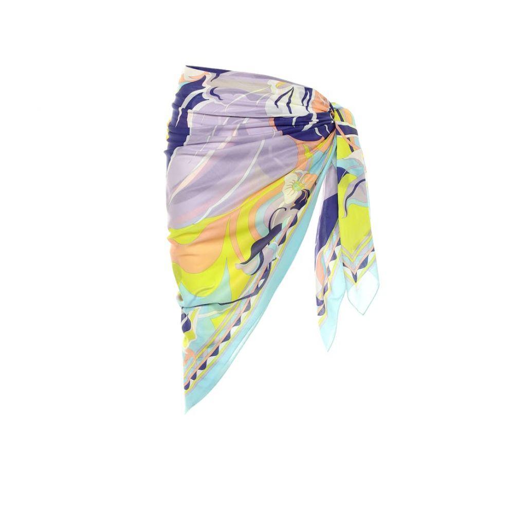 エミリオ プッチ Emilio Pucci Beach レディース 水着・ビーチウェア ビーチウェア【Printed cotton sarong】Viola/Lime