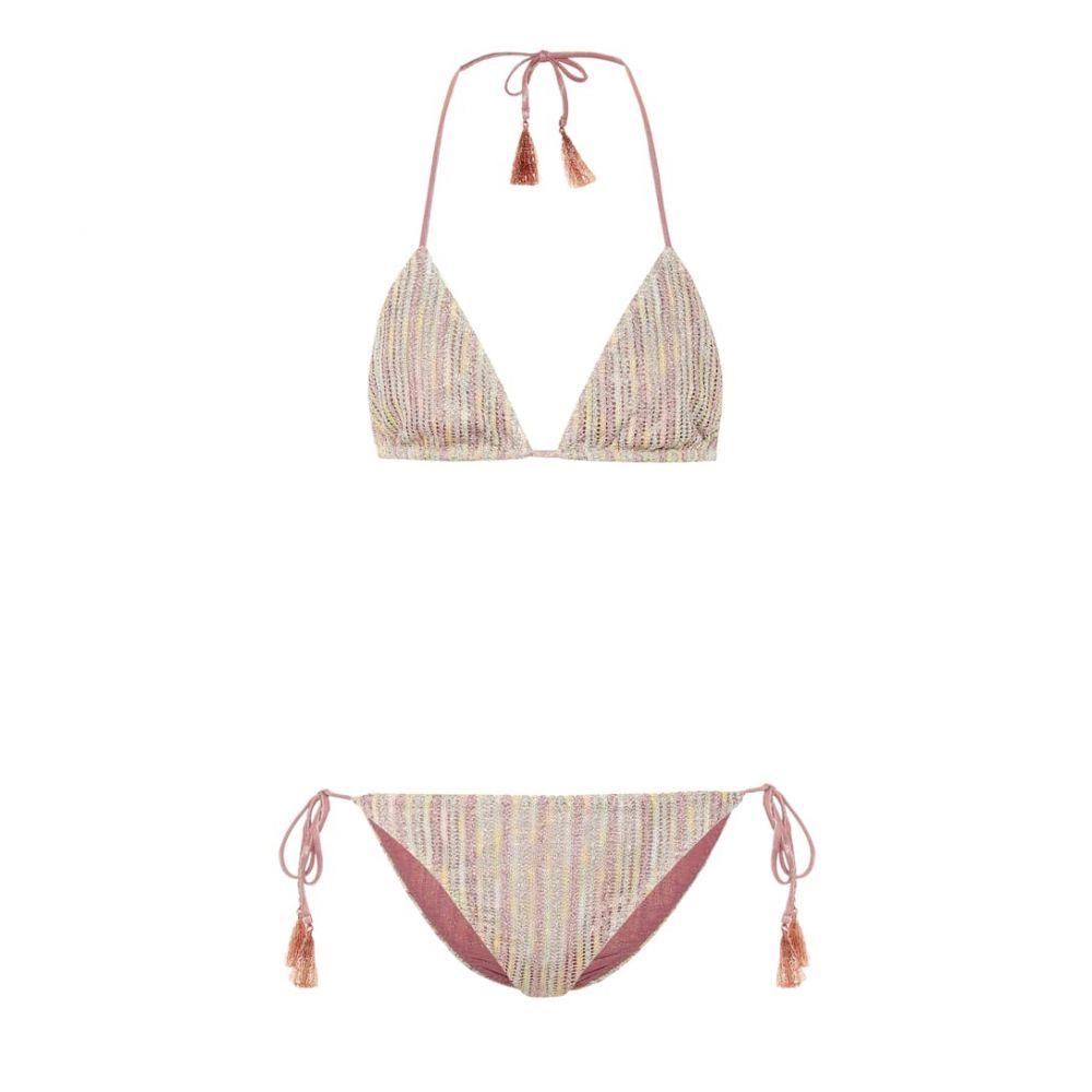 ミッソーニ Missoni Mare レディース 水着・ビーチウェア 上下セット【Striped metallic knit bikini】