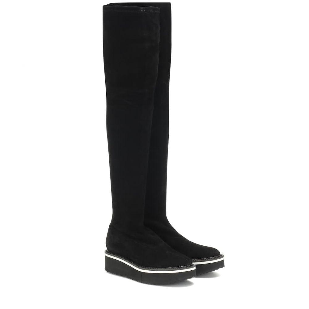 ロベール クレジュリー Clergerie レディース シューズ・靴 ブーツ【Bella stretch suede boots】Black